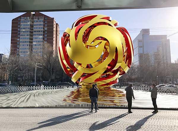 Wang Kaifang Sculpture  for Phoenix TV